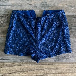 Blue sequin hot pants/shorts